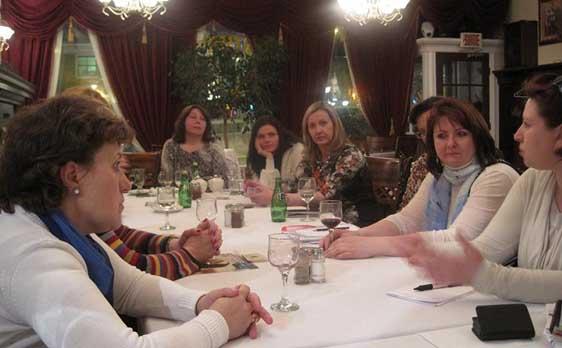 Регулярная встреча членов клуба -Ресторан Georgia